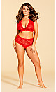 Plus Size Zoey Thong - red