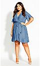 Denim Stripe Dress - chambray