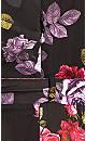 Plus Size Vintage Floral Dress - black