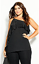 Plus Size Bewitch Top - black