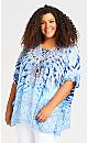 Plus Size Santorini Kaftan - blue