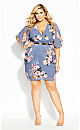 Plus Size Clothing - Florence Dress - mauve