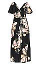 Tuscan Rose Maxi Dress - black