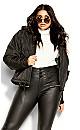 Streetwise Puffer Jacket - black