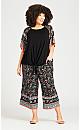 Plus Size Layla Border Pant - black