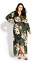 Green Jasmine Maxi Dress - moss