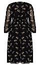 Gentle Floral Dress - black