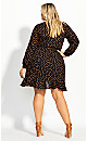 Amber Spot Dress - black