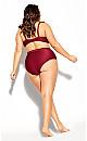 Plus Size Cavallo Bikini Brief - red