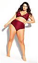 Plus Size Cavallo Bikini Top - red