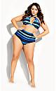 Cancun Stripe Bikini Brief - blue