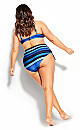 Cancun Stripe Underwire Bikini Top - blue