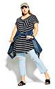 Chilled Stripe Dress - black