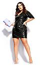 Plus Size Sequin Glow Dress - black