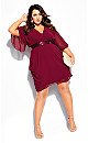 Women's Plus Size Sequin Wrap Dress