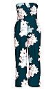 Emerald Floral Jumpsuit - emerald