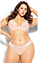 Plus Size Abby Thong - champagne