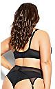Plus Size Abby Garter Belt - black