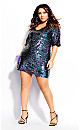 Sequin Glam Dress - silver
