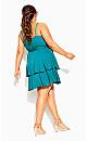 Mini Frill Dress - azure