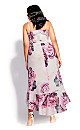 Vintage Blossom Maxi Dress - blush