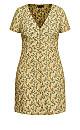 Plus Size Vintage Ditsy Dress - pistachio