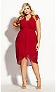 Wrap Swing Dress - lust red
