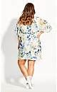 Plus Size Natalia Floral Dress - ivory