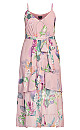 Heartwine Floral Maxi Dress - rose