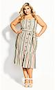 Wild Stripe Dress - sage