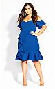Flutter Away Dress - electric blue
