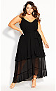 Mirage Frills Maxi Dress - black