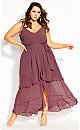 Mirage Frills Maxi Dress - rosewood