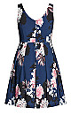 Darling Floral Dress - navy