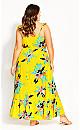 Elba Frill Maxi Dress - yellow