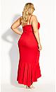 Ruffle Delight Maxi Dress - red