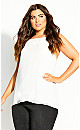 Plus Size Sweet Passion Top - ivory
