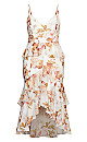 Rosa Bloom Maxi Dress - ivory