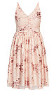Sequin Flower Dress - pink