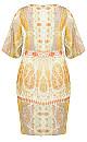 Togo Mirror Dress -  lime