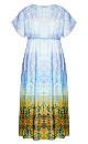 Shanika Mirror Maxi Dress - sky