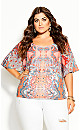 Plus Size Adisa Mirror Top - punch