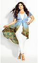 Plus Size Shanika Jacket - sky