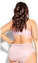 Plus Size Bodycon Contour Bra - pink