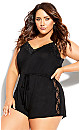 Plus Size Lara Playsuit - black