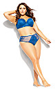 Plus Size Mia Shorty - mykonos blue