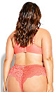 Plus Size Sexy Glam Balconette T-Shirt Bra - coral
