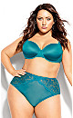 Plus Size Sexy Glam Balconette T-Shirt Bra - emerald