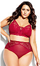 Plus Size Sexy Glam Bralette - berry