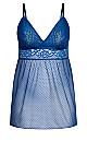 Plus Size Mia Babydoll Set -  mykonos blue